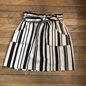 Black/White Striped Skirt